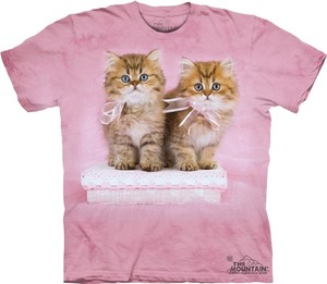 Kitten Casual Party T Shirt Pink