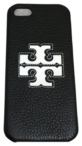 Tory Burch Tory Burch Jessica Hardshell Iphone 5/5s Case Black Pebbled Leather White Logo