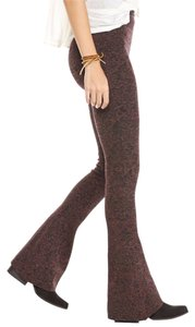 Free People Fit Stretch Fit Flare Pants Wine