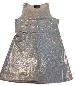 All That Jazz short dress Holographic Silver Metallic Stretch Comfortable Minidress Mod 90's Spandex Romy & Michelle Iridescent Rave Futuristic on Tradesy