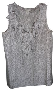 J.Crew Ruffle Silk Work Night Out Top Grey Snakeskin Pattern