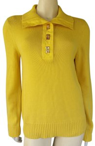Lauren by Ralph Lauren Knit Golden Cotton Sweater