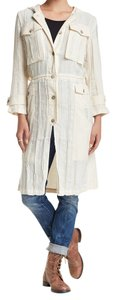 Free People Heirloom Long Sleeves Trench Trench Coat