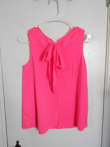 J.Crew Bow Pink Top Bright Pink