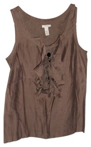 J.Crew Ruffle Tank Work Night Out Top Brown
