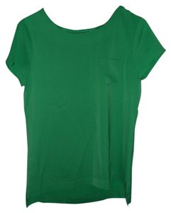 J.Crew Work Night Out Silk Top Kelly Green