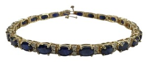 Certified 14.4 CT Sapphire & .96 CT Diamond Tennis Bracelet