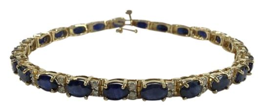 Preload https://item2.tradesy.com/images/14k-solid-yellow-gold-medium-dark-blue-untreated-sapphires-brilliant-white-diamonds-certified-144-ct-1477871-0-2.jpg?width=440&height=440