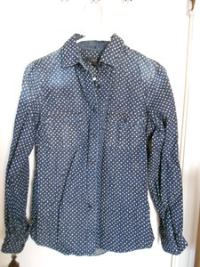 J.Crew Stars Faded Button Down Shirt Chambray