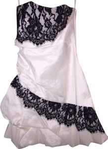 Jessica McClintock Black Lace Strapless Bubble Dress
