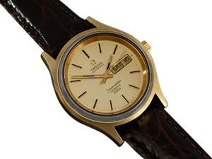 Omega 1970's Omega Seamaster Cosmic 2000 Vintage Mens Dive Watch, Day Date - 18K Gold Plated & Stainless Steel