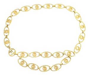 Chanel Chanel CC Medallion Twist Chain Belt CCE03S 72CCA902