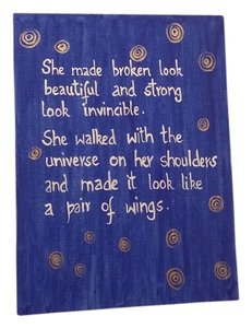 Mother's Day / Womens Day - She made Broken Look Beautiful - Quote