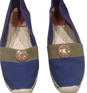 Tory Burch Navy Olive Flats