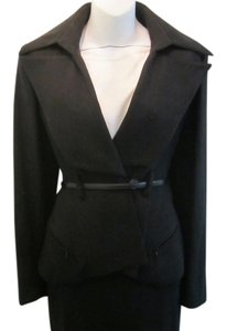Karl Lagerfeld Black Skirt Suit Size 42