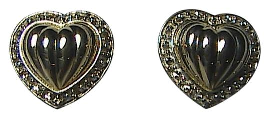 Preload https://img-static.tradesy.com/item/1477973/14k-yellow-gold-and-sterling-silver-925-diamond-accent-stud-heart-earrings-0-0-540-540.jpg