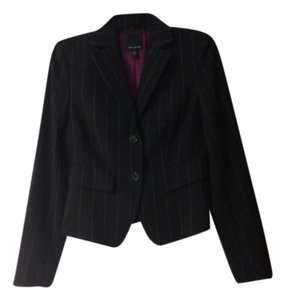The Limited Pinstripe Wool Black Blazer