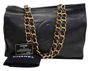 Chanel Lambskin Tote Leather Shoulder Bag