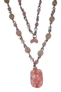 Unknown Silver w/pink beads necklace