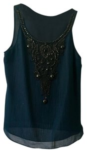 Magaschoni Top Navy & Black