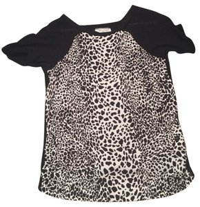 Zara T Shirt Black and white animal print