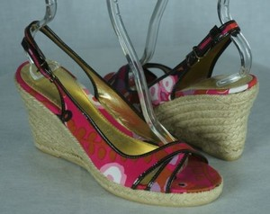 J.Crew Lucaya Espadrilles Wedges Cherry Blossom Samples Multi-Color Platforms