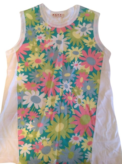 Marni Top White with daisy print