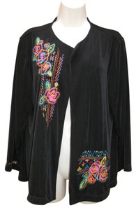 Chico's Slinky Jacket Embroidered Plus-size Cardigan