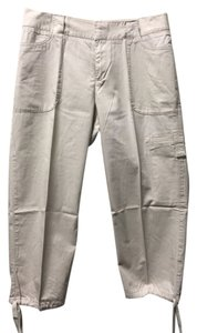 Izod Petite Cotton Capris Cream