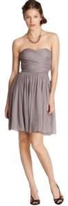 J.Crew Silk Chiffon Bridesmaid Gray Dress