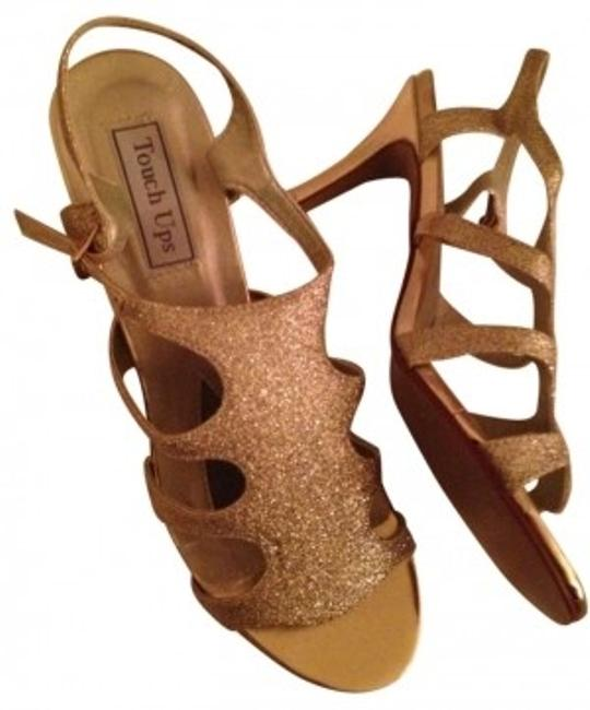 Item - Gold Name: Aphrodite Style # 302m Glitter Sandle Heel Heigh 2 5/8 Formal Shoes Size US 10
