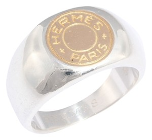 Hermès Two Tone Clou de Selle Ring