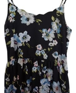 Xhilaration short dress Black and floral on Tradesy
