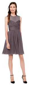 J.Crew Silk Chiffon Illusion Silhouette Wedding Formal Dress