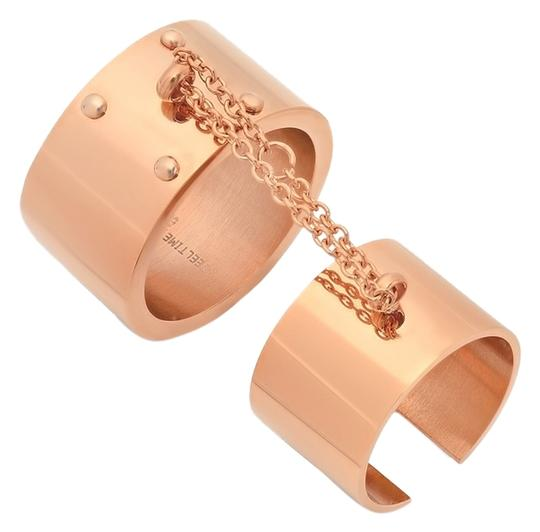 HMY Jewelry HMY Jewelry Chain Connected Double Cuff Ring 8