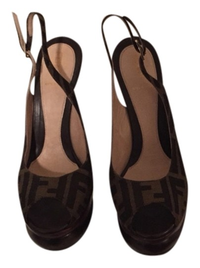 Fendi Brown Sandals