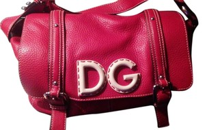 Dolce&Gabbana Vintage Leather Logo Satchel in Red