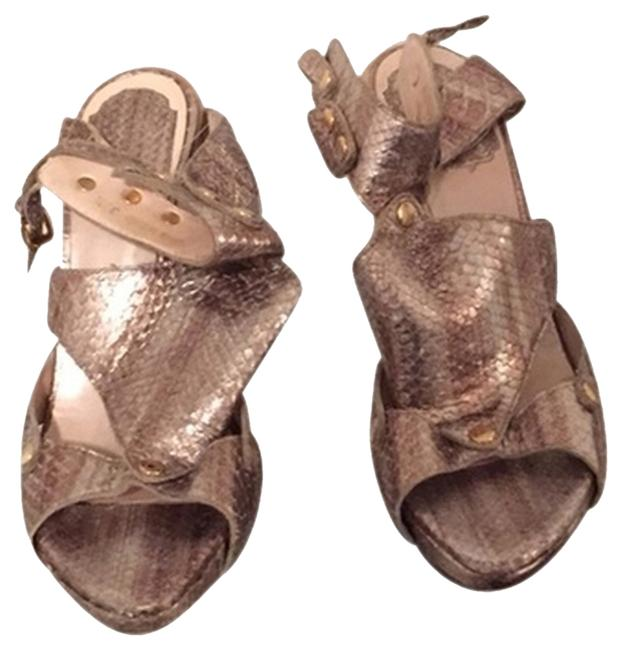 Dior Gold & Silver Sex In The City Sandals Size US 7.5 Regular (M, B) Dior Gold & Silver Sex In The City Sandals Size US 7.5 Regular (M, B) Image 1
