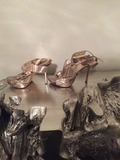 Dior Gold & Silver Sandals