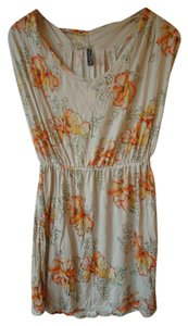 Free People Floral Flowy Knit Sleeveless Tunic