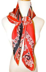Emilio Pucci NWT AUTHENTIC EMILIO PUCCI ITALY SQUARE RED MULTICOLOR SCARF $330