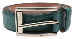 Gucci Teal Guccissima Embossed Leather Belt
