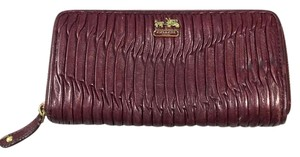 Coach Madison Ruched Zip Around Wallet