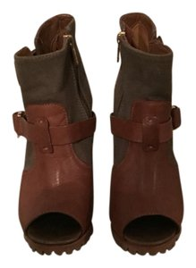 Tory Burch Olive & Brown Boots