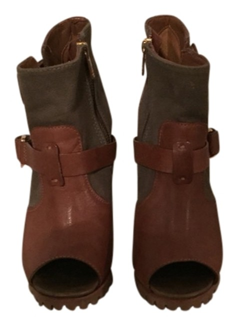 Tory Burch Olive & Brown Boots/Booties Size US 7.5 Regular (M, B) Tory Burch Olive & Brown Boots/Booties Size US 7.5 Regular (M, B) Image 1