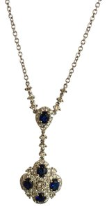 18k white gold blue sapphire and diamond necklace BLUE SAPPHIRE AND DIAMOND NECKLACE