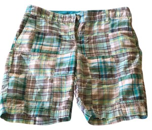 Ann Taylor LOFT Bermuda Shorts Multi-colored, plaid