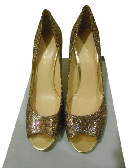 Enzo Angiolini Multi/Gold Pumps