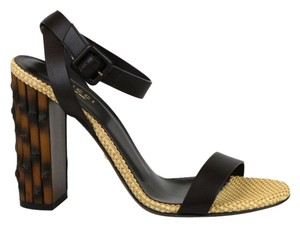 Gucci Leather Sandal Bamboo Heel Sandals