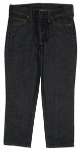 Citizens of Humanity 5 Pocket Style Low Rise Zip Fly Cotton/spandex Capri/Cropped Denim-Dark Rinse